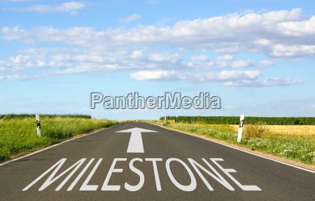 milestone business concept