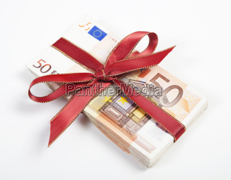 money with red bow