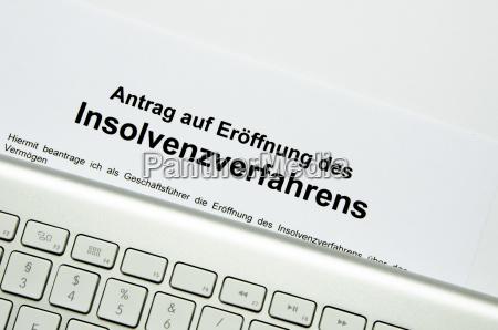 insolvenzantrag mit externer tastatur