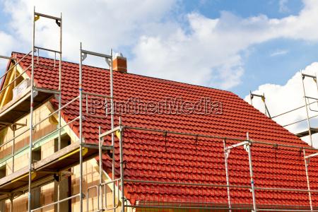 neues dach eines hauses