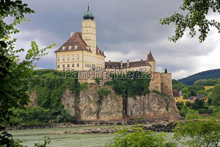 overlooking schoenbuehel castle overlooking the danube