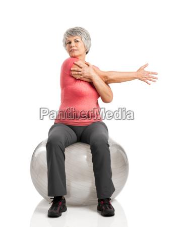 fiitness old woman