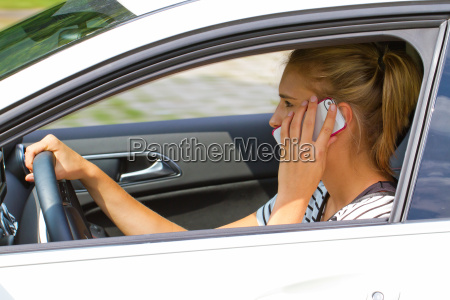 young woman with cell phone in