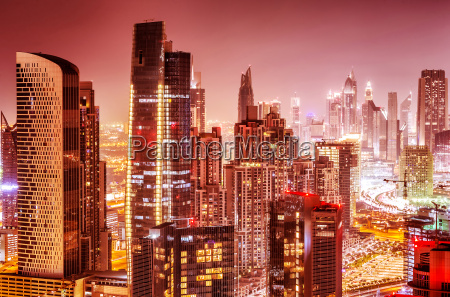 beautiful background of dubai at night
