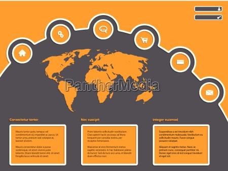 disenyo simple pagina web con mapa