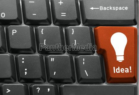 computer tastatur konzept