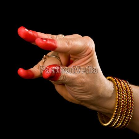 handbewegung indien geste gebaerde india tanzend