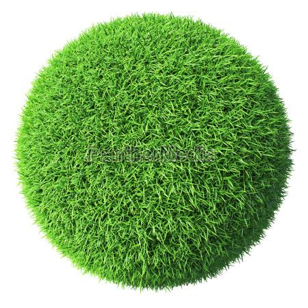 gruene graskugel isoliert