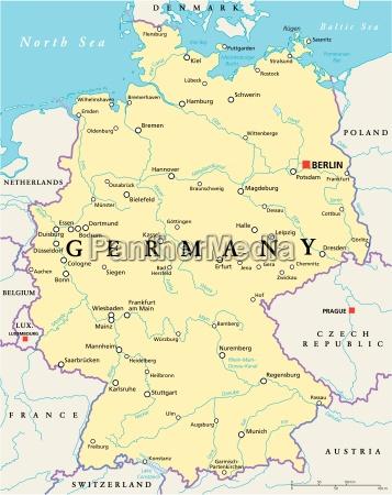 deutschland political map