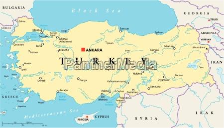 tuerkei political map