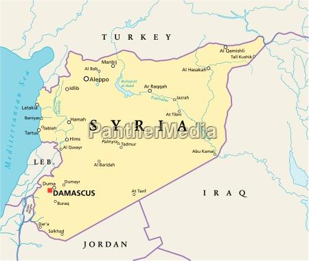 syrien politische karte