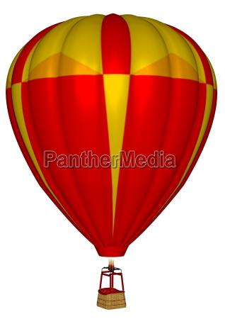heissluftballon 3d uebertragen