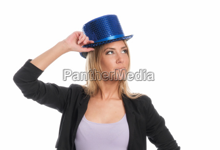 woman with cylinder