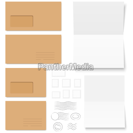 collection of envelopes with postmarks and