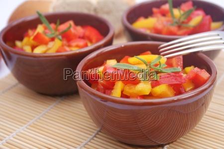 salat paprika paprikasalat gemuese vorspeise beilage