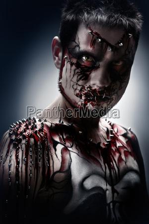 terrifying look