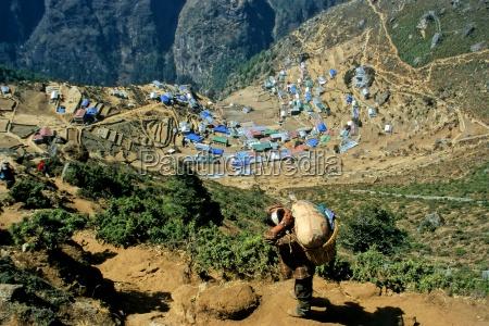asien himalaja nepal khumbu namche bazaar