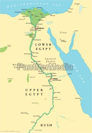 das alte aegypten karte