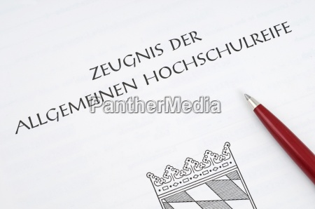 abiturzeugnis certificate of qualification for