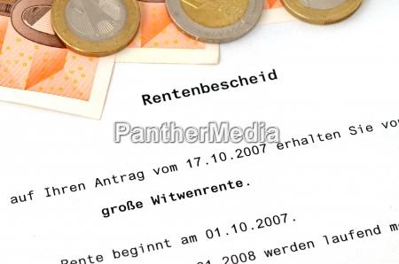 rentenbescheid, /, pension, approval, certificate - 13249494