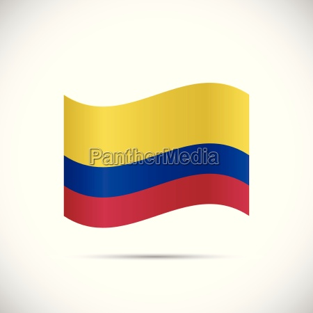 kolumbien flagge illustration