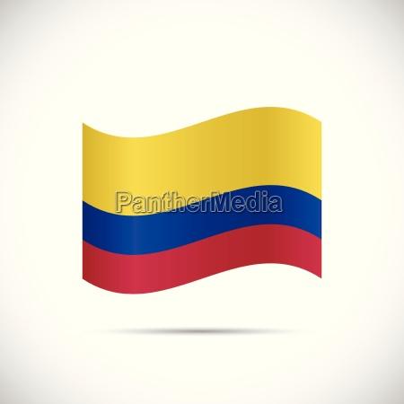 kolumbien-flagge, illustration - 13256852