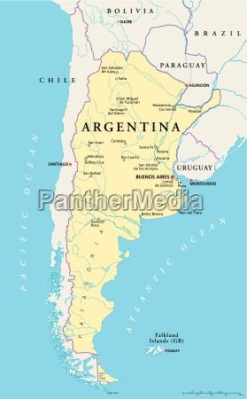 argentinien politische karte