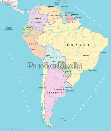 suedamerika einzelstaaten karte