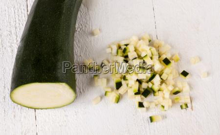 fresh zucchini whole in julienne strips