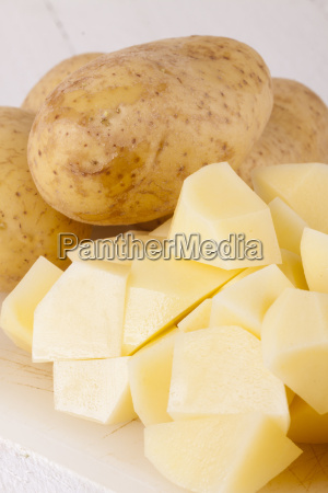 three whole potatoes peeled and chopped
