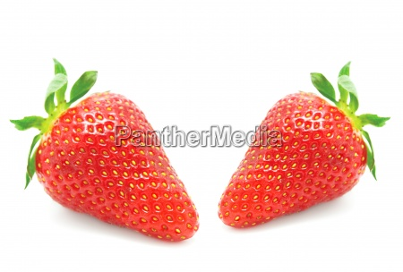 fresh ripe strawberries isolated on white