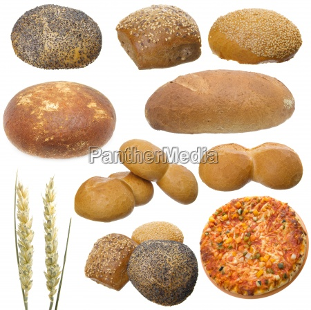 bread set isolated on a