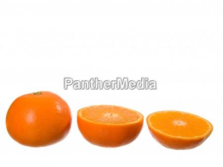 slice orange isolated on a white