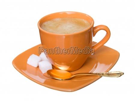 noggin coffee with foam sugar and