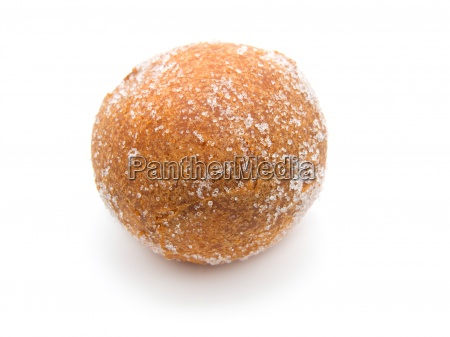 fried doughnut on a white background