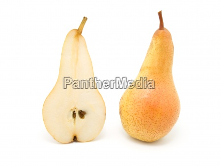 pear isolated on the white background