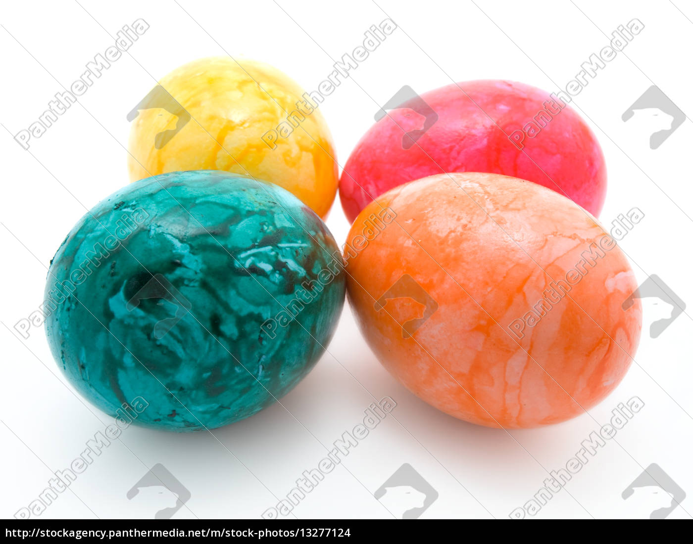 , colorful, easter, eggs, isolated, in - 13277124