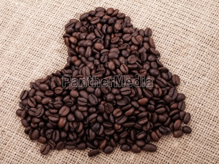 a coffee in the shape of