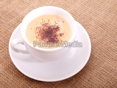 coffee cup on canvas