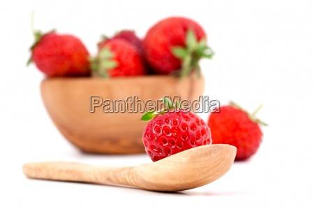 fresh strawberry isolated on white background