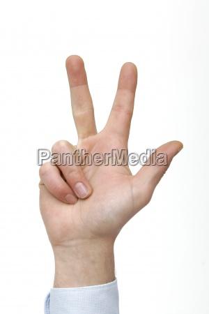 hand finger zaehlen zahl drei geste