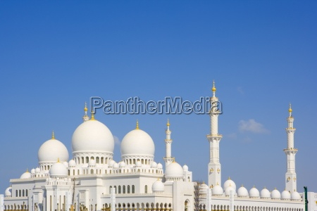 grosse moschee in abu dhabi emirate
