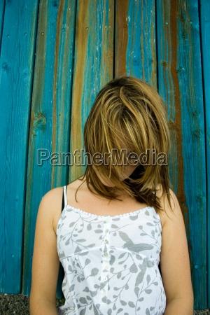 trauer traurig haare frau weiblich person