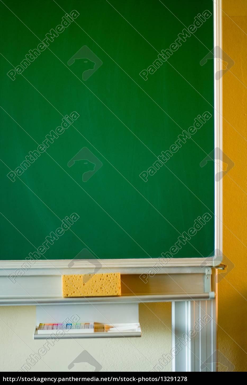 Schultafel mit schwamm leer  schule, Tafel, Schultafel, grŸn, Schwamm, Bildung, - Stockfoto ...