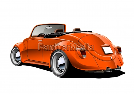beetle convertible orange