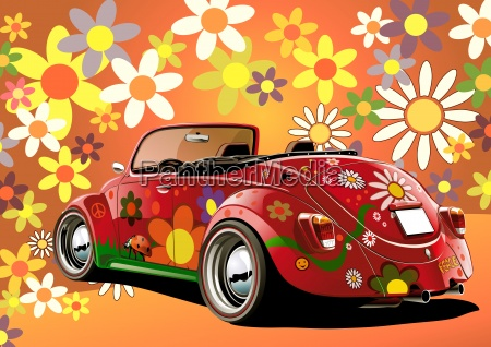 hippie beetle convertible bunt