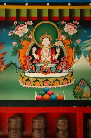 buddhistische malerei im himalaja