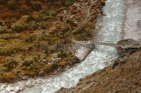 simple bridge over mountainnepal