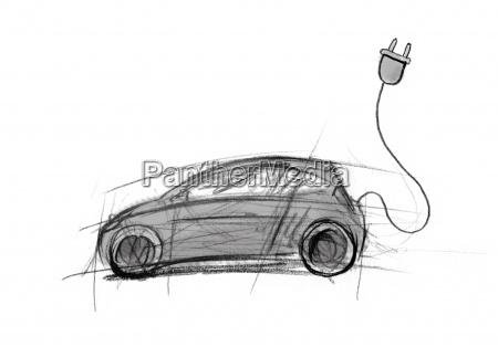 auto, strom, elektrisch, energie, motor, batterie - 13296770