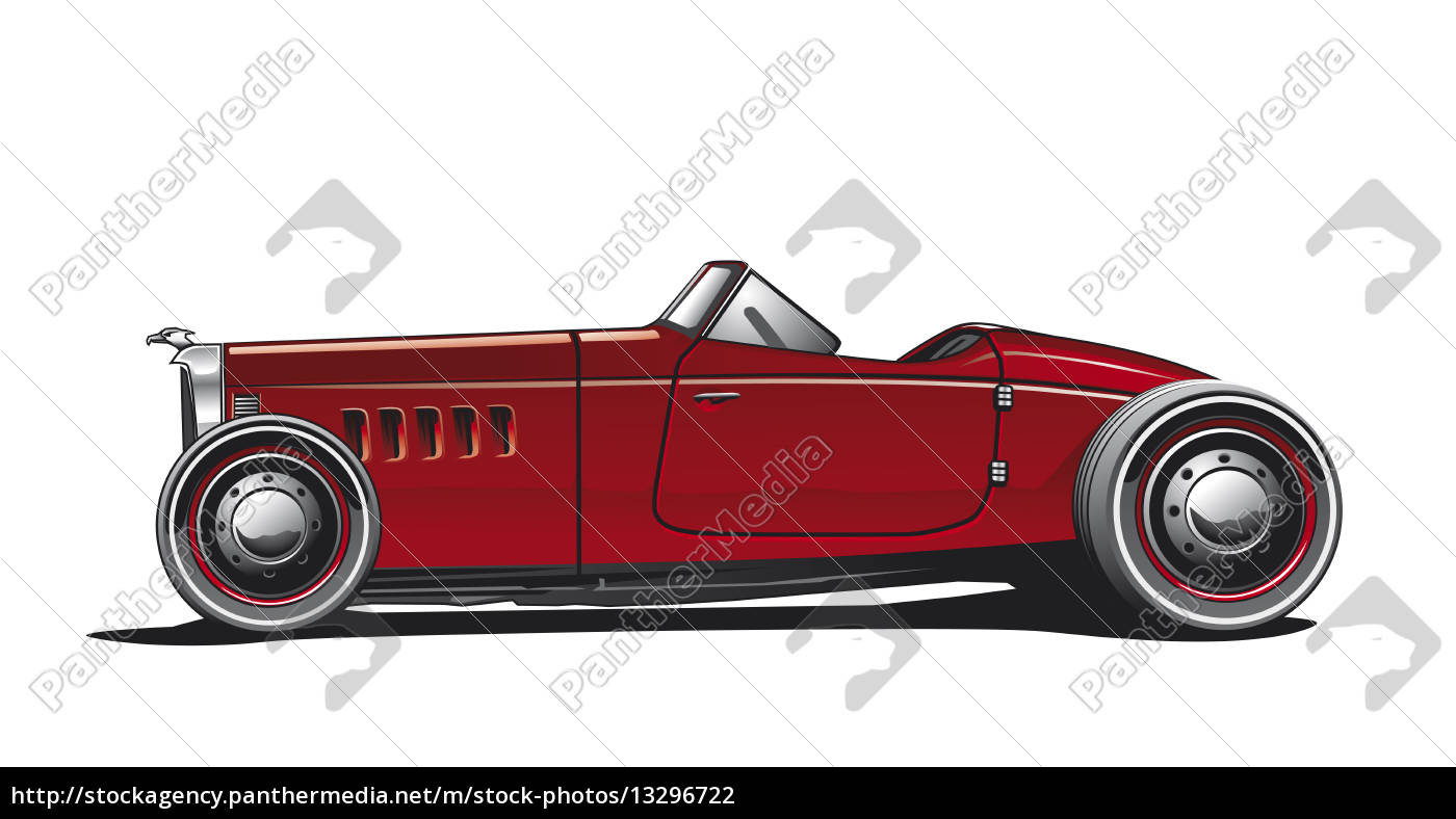 hotrod, , illustration - 13296722